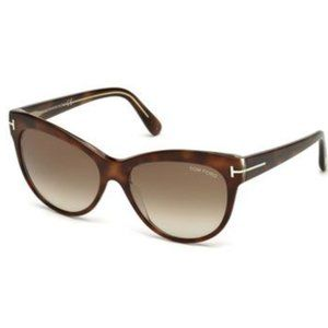 Tom Ford Lily 56 Havana Sunglasses- New with Tags